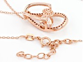 White Cubic Zirconia 18k Rose Gold Over Sterling Silver Pendant With Chain 2.71ctw