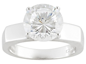 Cubic Zirconia Sterling Silver Ring 4.59ctw