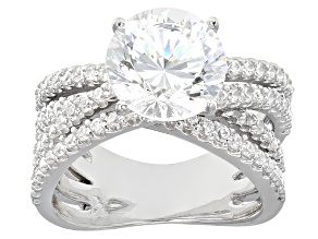 Cubic Zirconia Sterling Silver Ring 6.00ctw