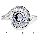 White Cubic Zirconia Rhodium Over Sterling Silver Ring 6.55ctw