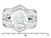 White Cubic Zirconia Rhodium Over Sterling Silver Ring 5.16ctw