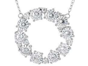 White Cubic Zirconia Rhodium Over Silver Necklace 4.77ctw