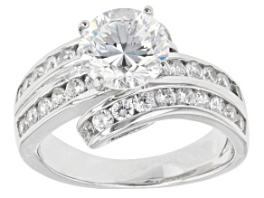 Cubic Zirconia Rhodium Over Sterling Silver Ring 5.00ctw