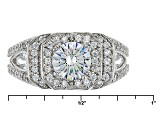 White Cubic Zirconia Rhodium Over Silver Ring 3.20ctw
