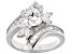 White Cubic Zirconia Rhodium Over Sterling Silver Ring 4.73ctw
