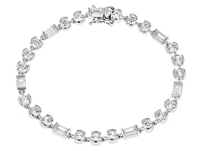 White Cubic Zirconia Rhodium Over Sterling Silver Bracelet 13.20ctw