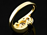 White Cubic Zirconia 18k Yellow Gold Over Sterling Silver Ring 3.11ctw
