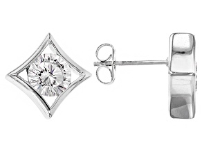 White Cubic Zirconia Rhodium Over Sterling Silver Earrings 3.34ctw