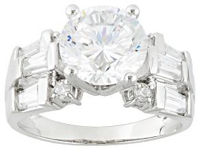 Cubic Zirconia Silver Ring 6.12ctw (3.59ctw DEW)