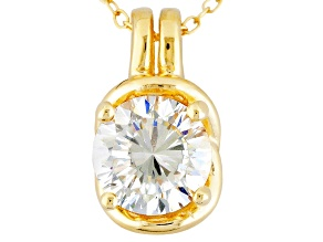 Cubic Zirconia 18k Yellow Gold Over Silver Pendant With Chain 2.16ct (1.28ct DEW)