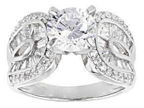 Cubic Zirconia Silver Ring 5.44ctw (3.72ctw DEW)