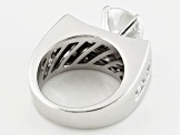 White Cubic Zirconia Rhodium Over Sterling Silver Ring 6.70ctw