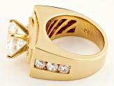 White Cubic Zirconia 18k Yg Over Silver Ring 6.70ctw