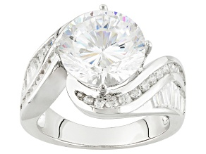 White Cubic Zirconia Rhodium Over Sterling Silver Ring 7.65ctw