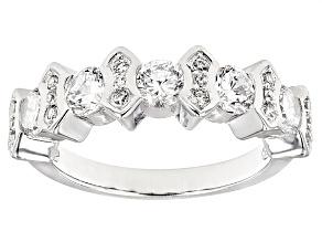 Cubic Zirconia Silver Ring 2.47ctw (1.40ctw DEW)