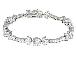 Cubic Zirconia Silver Bracelet 14.96ctw (9.90ctw DEW)