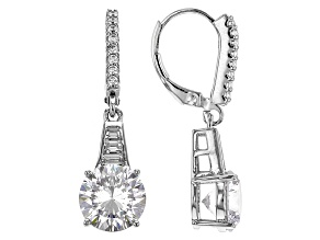 White Cubic Zirconia Rhodium Over Silver Earrings 6.88ctw