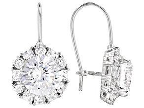 Cubic Zirconia Silver Earrings 5.91ctw (3.64ctw DEW)