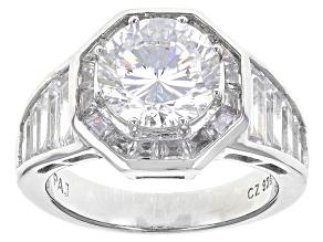 Cubic Zirconia Silver Ring 7.84ctw (3.95ctw DEW)