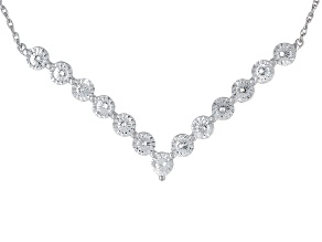 Cubic Zirconia Silver Necklace 5.85ctw (3.25ctw DEW)
