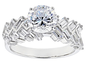 Cubic Zirconia Silver Ring 5.45ctw (3.48ctw DEW)