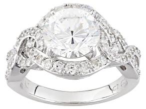 Cubic Zirconia Silver Ring 5.82ctw (3.48ctw DEW)