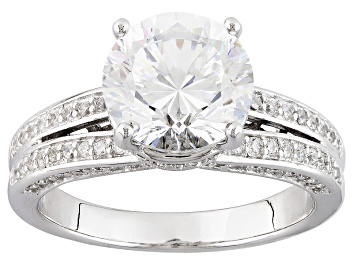 Picture of Cubic Zirconia Silver Ring 5.59ctw (3.40ctw DEW)