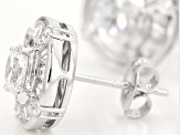 Cubic Zirconia Silver Earrings 2.88ctw (1.68ctw DEW)
