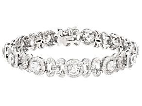 Cubic Zirconia Silver Bracelet 11.79ctw (7.48ctw DEW)