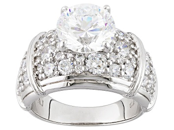 Picture of Cubic Zirconia Silver Ring 8.26ctw (4.75ctw DEW)
