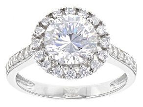 Cubic Zirconia Silver Ring 3.85ctw (2.46ctw DEW)