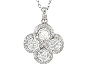 Cubic Zirconia Silver Necklace 2.19ctw (1.25ctw DEW)