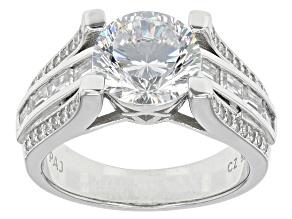 Cubic Zirconia Silver Ring 5.52ctw (3.91ctw DEW)
