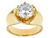Cubic Zirconia 18k Yellow Gold Over Silver Ring 4.59ct (2.75ct DEW)