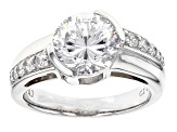 White Cubic Zirconia Rhodium Over Sterling Silver Ring 5.02ctw