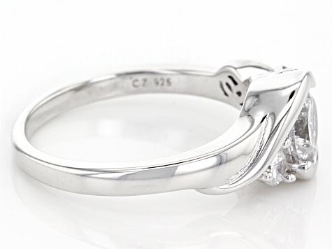 White Cubic Zirconia Rhodium Over Sterling Silver Ring 1.74ctw