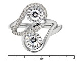 White Cubic Zirconia Rhodium Over Sterling Silver Ring 2.99ctw