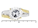 White Cubic Zirconia Rhodium Over Sterling Silver Ring 4.59ctw