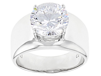 Picture of White Cubic Zirconia Rhodium Over Sterling Silver Ring 6.03ctw