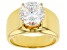 White Cubic Zirconia 18K Yellow Gold Over Sterling Silver Ring 6.03ctw