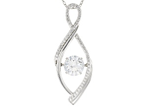 White Cubic Zirconia Rhodium Over Sterling Silver Pendant With Chain 2.57ctw