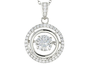 White Cubic Zirconia Rhodium Over Sterling Silver Pendant With Chain 2.72ctw