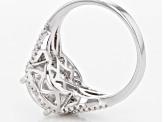White Cubic Zirconia Rhodium Over Sterling Silver Ring 6.72ctw