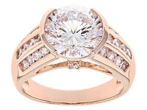 White Cubic Zirconia 18k Rose Gold Over Sterling Silver Ring 7.50ctw