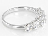 White Cubic Zirconia Rhodium Over Sterling Silver Ring 3.92ctw