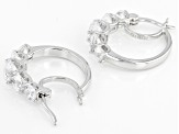 White Cubic Zirconia Rhodium Over Sterling Silver Earrings 4.52ctw