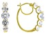 White Cubic Zirconia 18k Yellow Gold Over Sterling Silver Earrings 7.85ctw