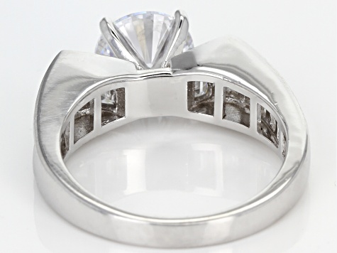 White Cubic Zirconia Rhodium Over Sterling Silver Ring 4.79ctw