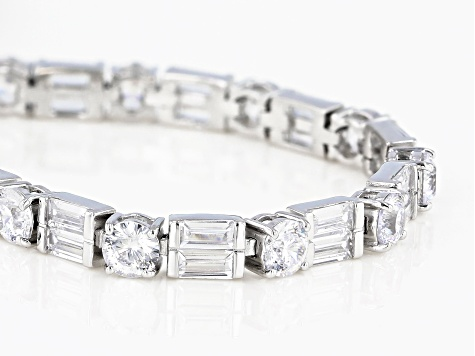 White Cubic Zirconia Rhodium Over Sterling Silver Bracelet 16.84ctw