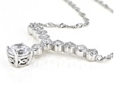 White Cubic Zirconia Rhodium Over Sterling Silver Necklace 3.24ctw